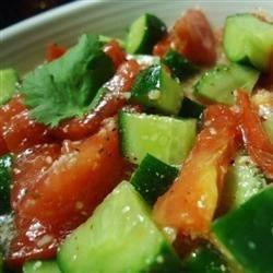 Garden Fresh Cucumber, Tomato & Basil Salad